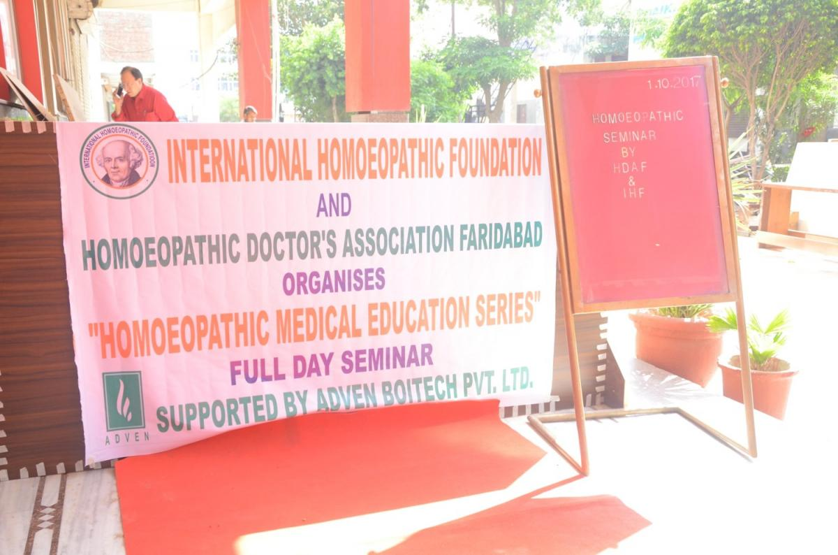 Homoeopathic Medical Education Series (HMES) 1st OCTOBER